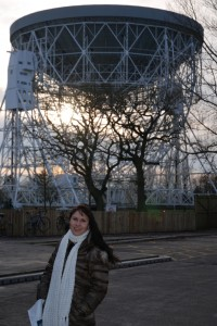 At Jodrell Bank - the Lovell Telescope and Victoria Jolly.