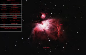 M42 - Orion Nebula - Stephen Charnock - 28/12/2014